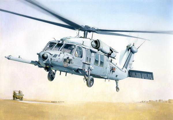 Italeri MH-60K Blackhawk SOA 1:48 Model Kit image