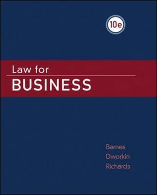 Law for Business by A.James Barnes image