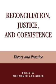 Reconciliation, Justice, and Coexistence