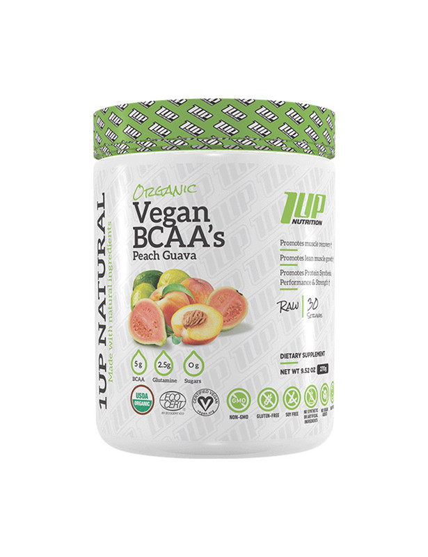1Up Nutrition Vegan BCAA - Peach Guava (30 Serves)