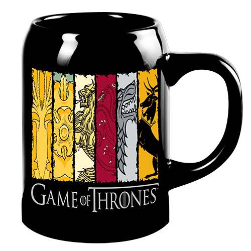 Game Of Thrones: House Sigils Ceramic Stein image