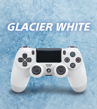 PlayStation 4 DualShock 4 v2 Wireless Controller - White for PS4 image