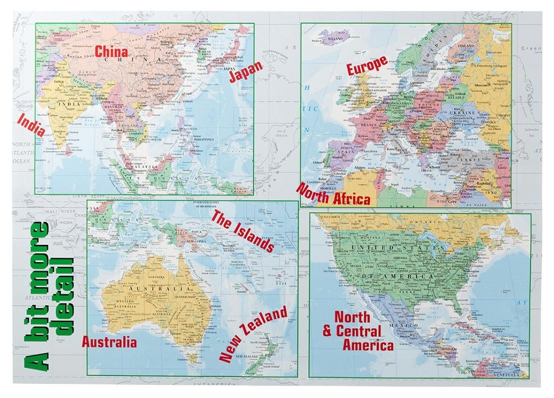 Gillian Miles - World Map - Wall Chart image