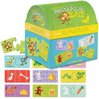 Crocodile Creek: 2pc Puzzle Set - What Animals Eat