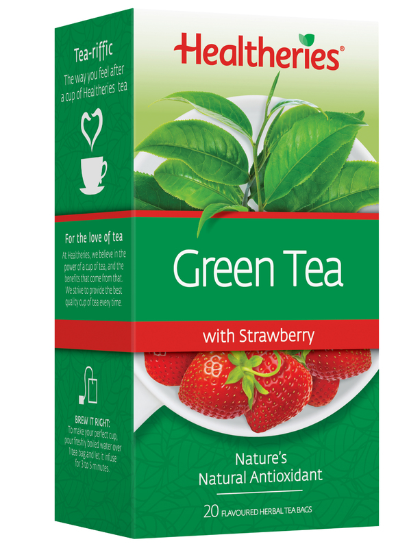 Healtheries Green Tea with Strawberry (Pack of 20)