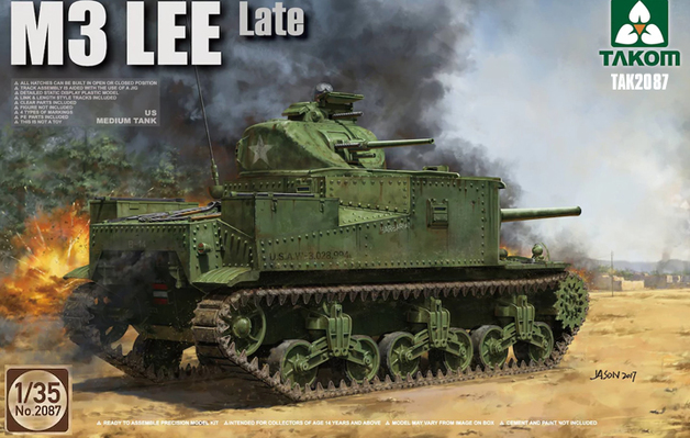 Takom: 1/35 US M3 Lee Medium Tank (Late Model) - Model Kit