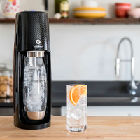 Soda Stream: Spirit One Touch Starter Pack - 3 levels of carbonation