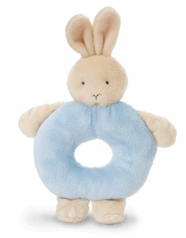 Bunnies By The Bay: Blue Bunny - Rattle Ring