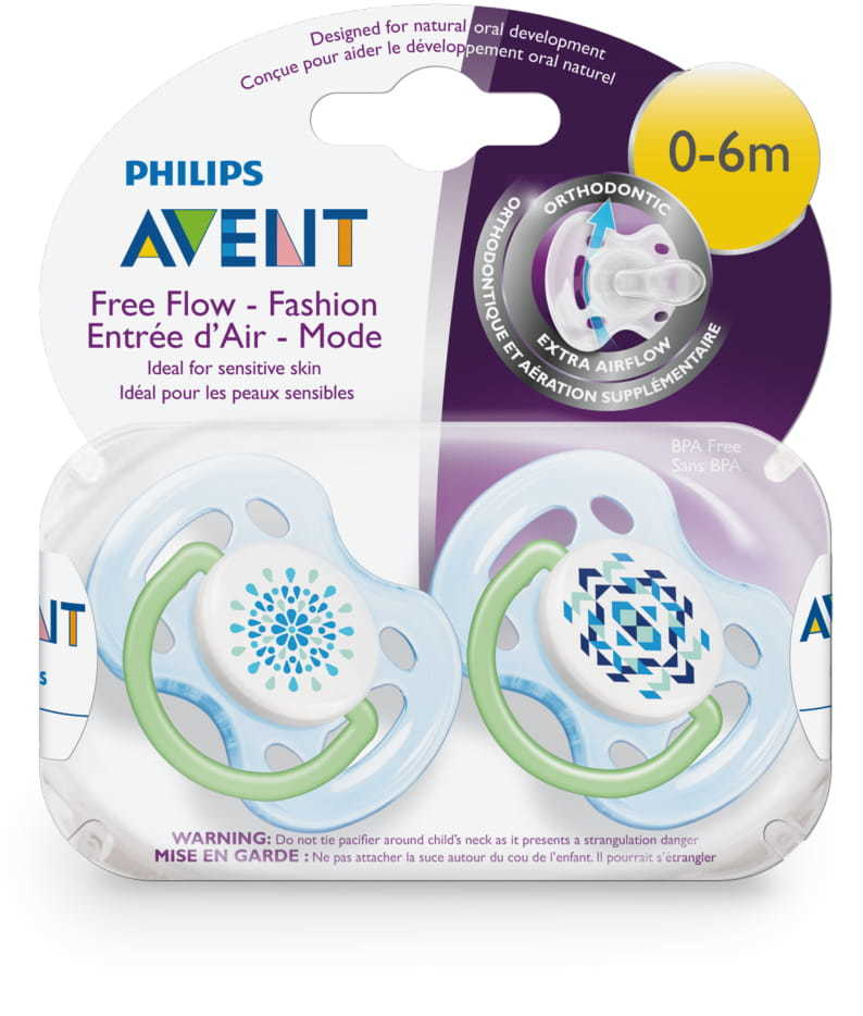 Avent: 0-6m Freeflow Soothers (2 Pack) image