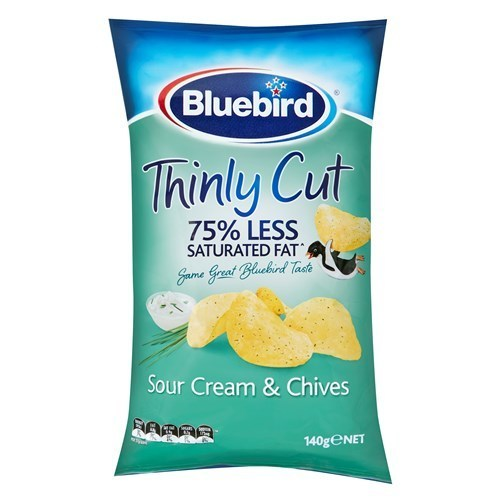 Bluebird Thinly Cut - Sour Cream & Chives (140g) 12pk