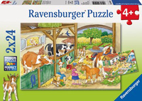 Ravensburger Merry Country Life Puzzle (2 x 24pc)