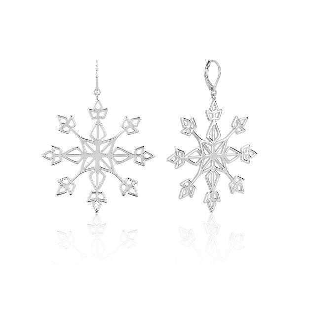 Couture Kingdom: Frozen II Snowflake Statement Drop Earrings