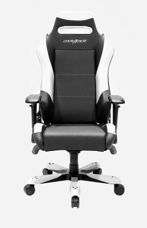 DXRacer Iron Series IS11 Gaming Chair (Black & White) for