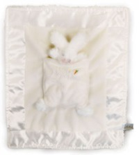 Bunnies By The Bay: White Bunny Lulla Bunny Bye Blanket