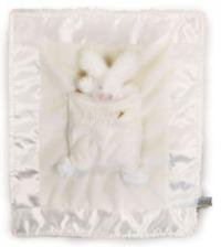 White Bunny Lulla Bunny Bye Blanket