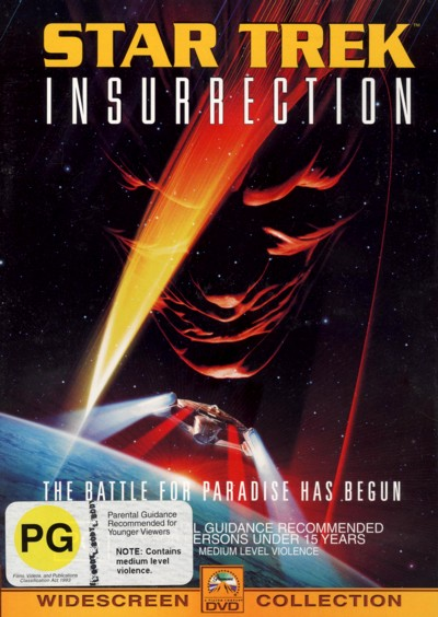 Star Trek: Insurrection on DVD image