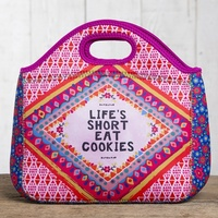 Natural Life: Neoprene Lunch Bag - Life's Short
