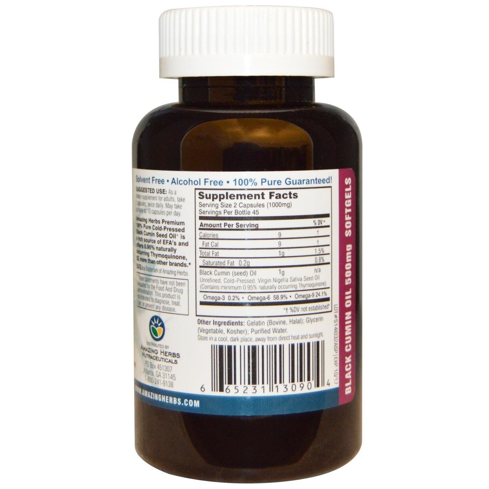 Amazing Herbs Black Seed Premium Oil Softgels (90s) image