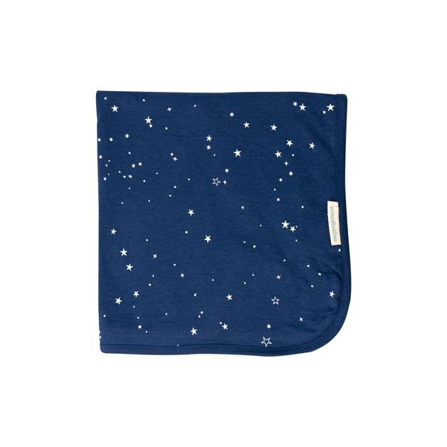Woolbabe: Merino/Organic Cotton Swaddle/Blanket - Tekapo Stars