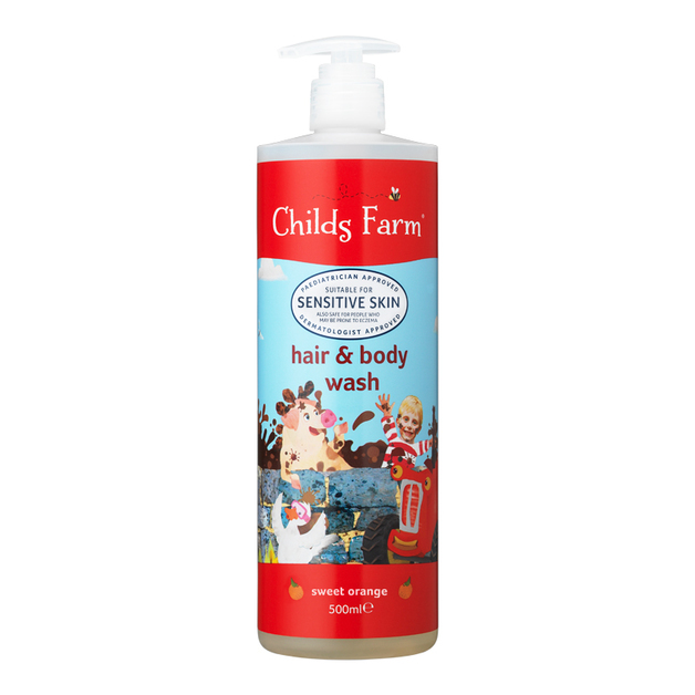 Childs Farm: Hair and Body Wash - Sweet Orange (500ml)