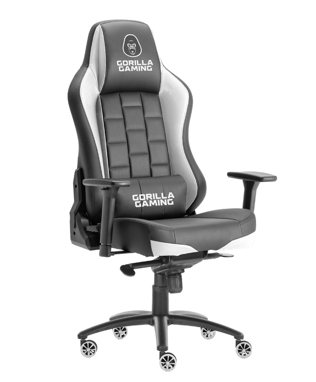 Gorilla Gaming Alpha Prime Chair - Black & White for