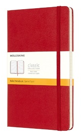 Moleskine: Classic Large Hard Cover Notebook Ruled - Scarlet Red by Moleskine