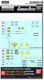 Gundam GD-05 MG MS-06S/F/J Zaku II 1/100 Decal Sheet