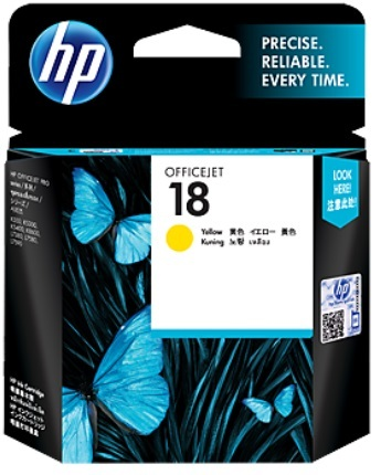 HP 18 Ink Cartridge C4939A (Yellow)