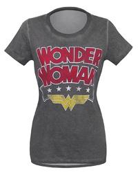 DC Comics: Wonder Woman Logo - Hi-Lo T-Shirt (Medium)