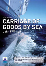 Carriage of Goods by Sea by John F. Wilson image