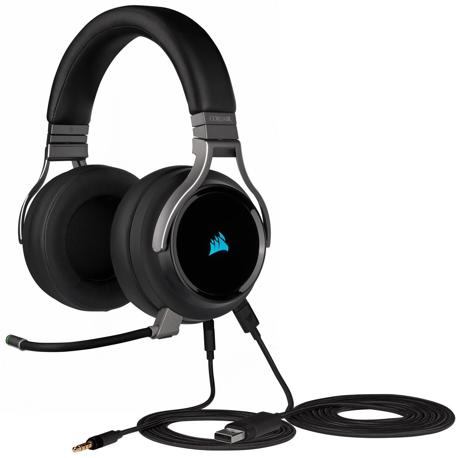 Corsair Virtuoso RGB Wireless Gaming Headset (Black) for PC image