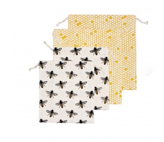 Bees Cotton Produce Bags (4 Pack)