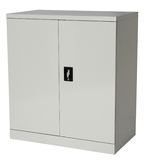 Proceed Steel Cupboard 2 Shelf - W900mm x D500mm x H1000mm (Ice White)