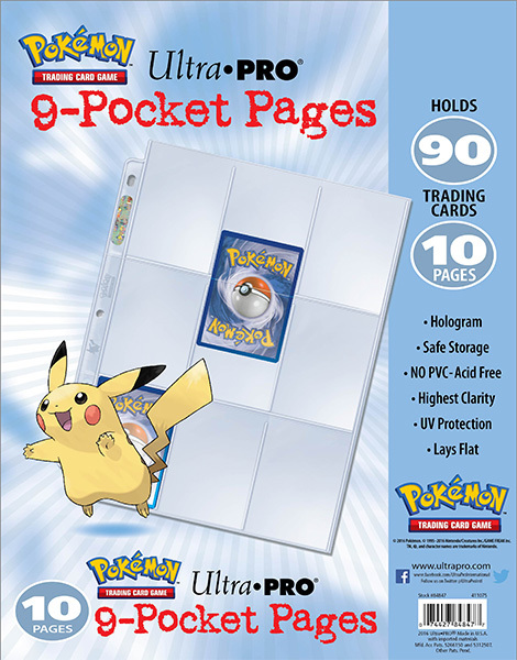 Ultra Pro Pokemon - 9-Pocket Trading Card Page Pack image