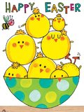 Happy Easter Chicks Mini Cards (Pack of 5)