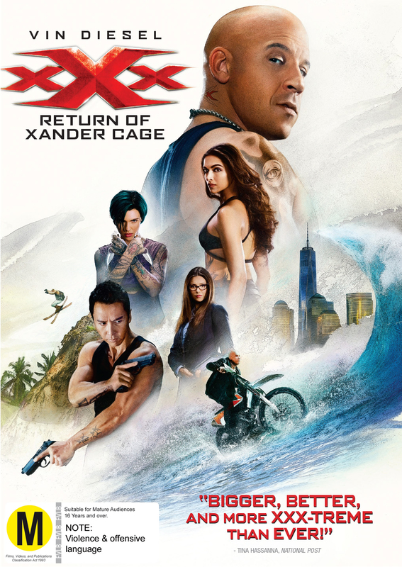 xXx: The Return Of Xander Cage on DVD