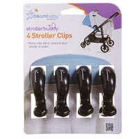 Strollerbuddy® Stroller Clips - Black (4 Pack)