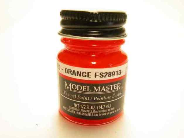 Testors: Enamel Paint - Fluorescent Red/Orange (Semi-Gloss)