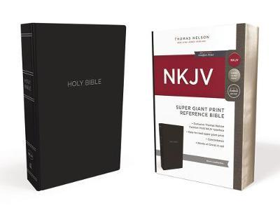 NKJV Reference Bible Red Letter Edition [Super Giant Print, Black] by Thomas Nelson