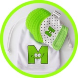 Mouthie Mitten Teething Mitten (Green)