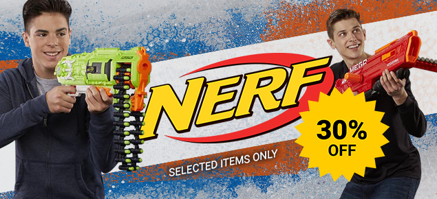 30% off select Nerf!