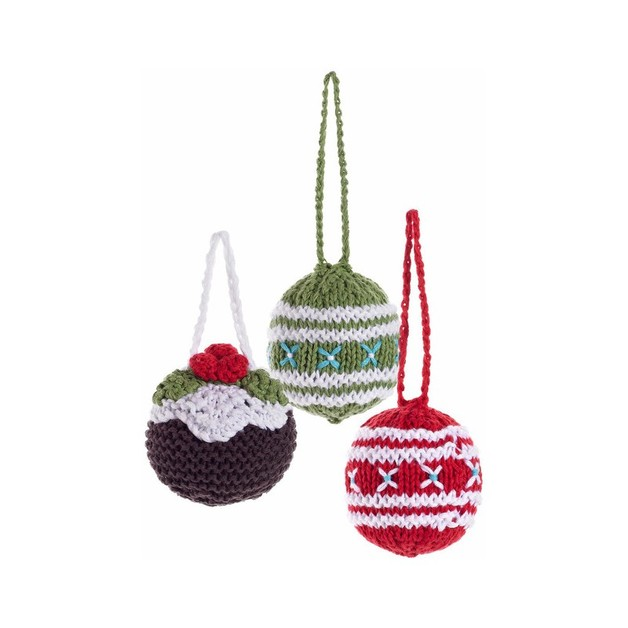 Pebble: Knitted Christmas Bauble Set