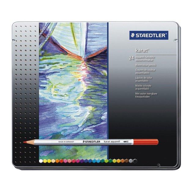Staedtler: Karat Aquarell Professional Watercolour Pencils - Tin of 24