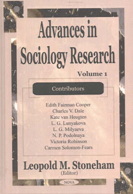 Advances in Sociology Research: v. 1