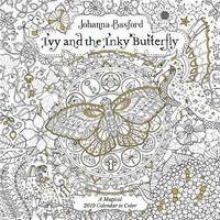 Ivy And The Inky Butterfly 2019 Coloring Wall Calendar By Johanna Basford
