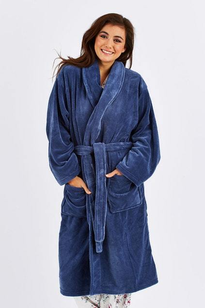 Bambury Denim Microplush Robe (Small/Medium)