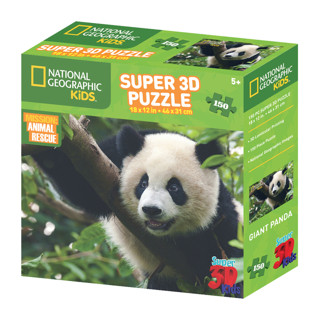 Super 3D: 150-Piece Jigsaw Puzzle - Giant Panda