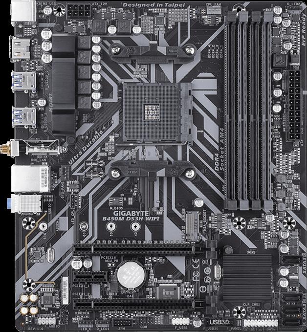 Gigabyte B450M DS3H WIFI mATX Motherboard