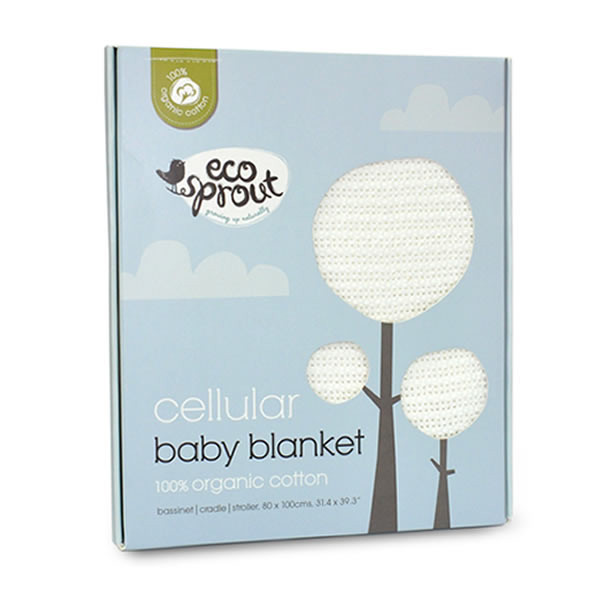 Ecosprout: Organic Cotton Cellular Blanket (Bassinet)