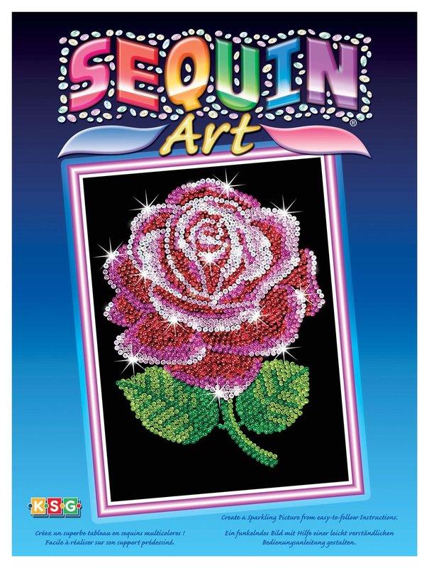Sequin Art - Rose